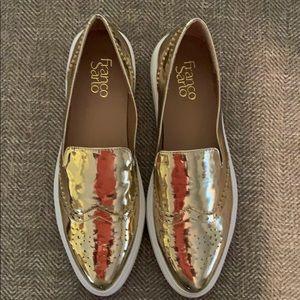 EUC Franco Sarto Gold Sneakers Size 7.5.